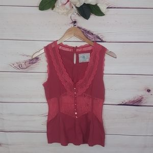 Free People | Laced Bodice Blouse S